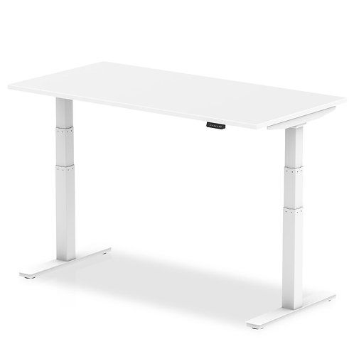 Air White Height Adjustable Desk With White Legs