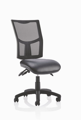 Eclipse Plus 3 Mesh Back with Soft Bonded Leather Seat