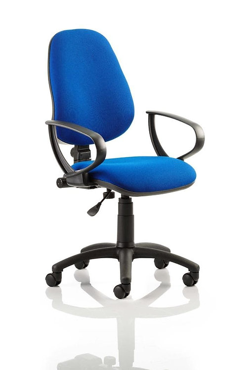 Eclipse Plus I Lever Task Operator Chair Blue With Loop Arms