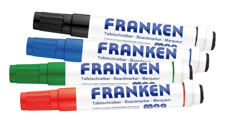 CombiMarkers MagWrite Line Width 1 - 3 MM 1 Each In Red Blue Green Black