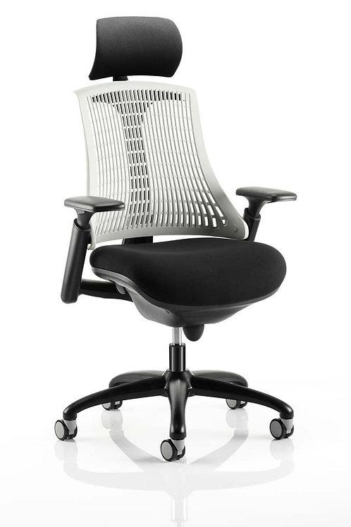 Flex Task Operator Chair Black Frame With Black Fabric Seat