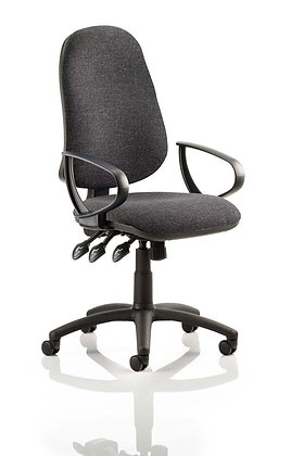 Eclipse Plus XL Lever Task Operator Chair Charcoal With Loop Arms