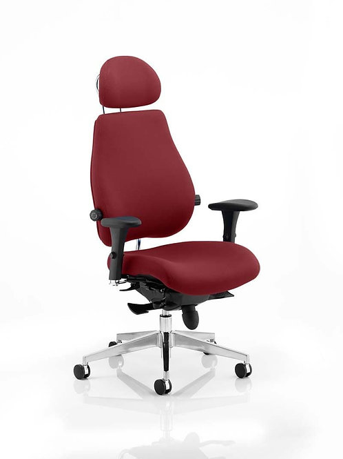 Chiro Plus Ultimate With Headrest Bespoke Colour ginseng Chilli