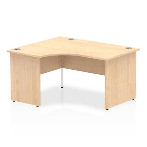 Impulse 1400 Left Hand Panel End Leg Desk Maple