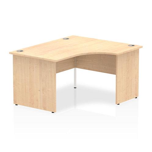 Impulse 1400 Right Hand Panel End Leg Desk Maple