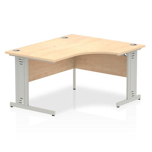 Impulse 1400 Right Hand Silver Crescent Cable Managed Leg Desk Maple