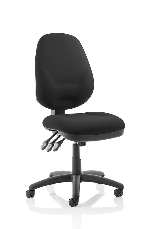 Eclipse Plus XL Lever Task Operator Chair Black Without Arms