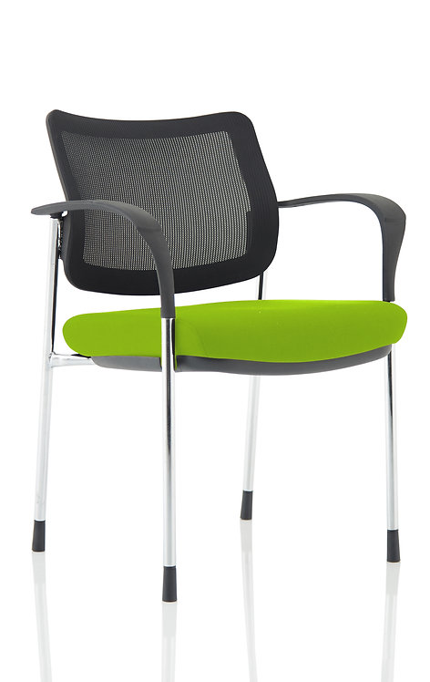 Brunswick Deluxe Mesh Back Chrome Frame Bespoke Colour Seat With Arms