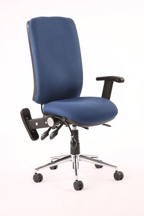Chiro High Back Task Operators Chair Blue