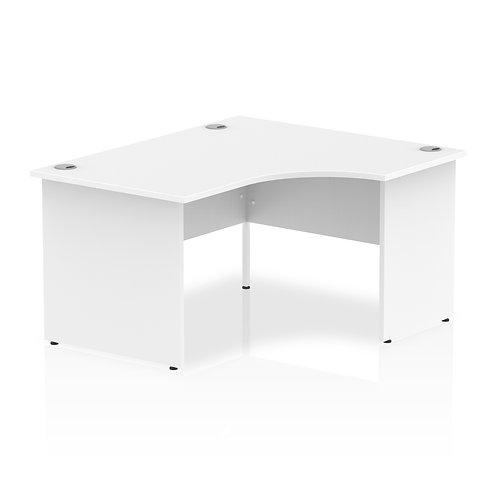 Impulse 1400 Right Hand Panel End Leg Desk White