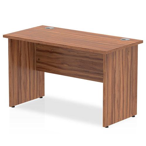 Impulse 1200/600 Rectangle Panel End Leg Desk Walnut