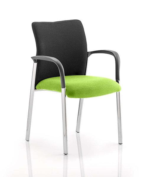 Academy Black Fabric Back Bespoke Colour Seat With Arms myrrh Green