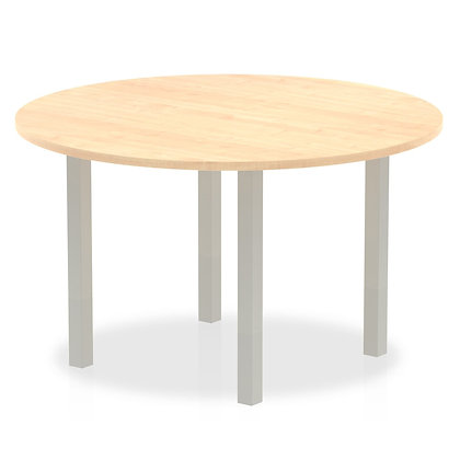 Impulse 1200 round Meeting Table Maple