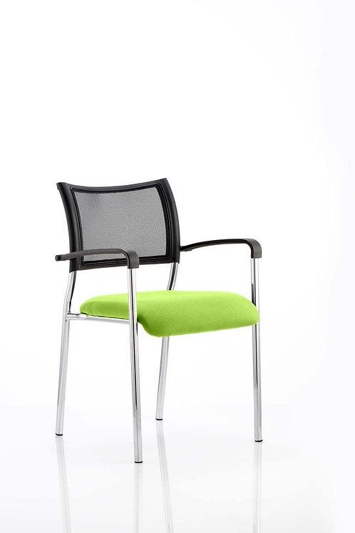Brunswick Bespoke Colour Seat Chrome Frame myrrh Green