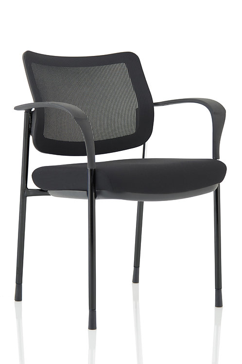 Brunswick Deluxe Mesh Back Black Frame With Arms