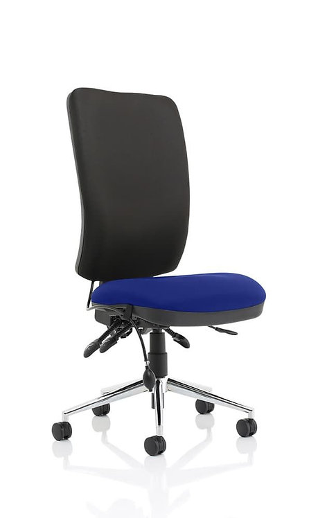 Chiro High Back Bespoke Colour Seat Stevia Blue No Arms