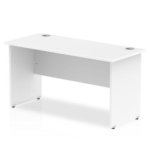 Impulse 1400/600 Rectangle Panel End Leg Desk White