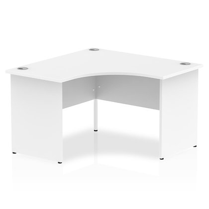 Impulse 1200 Corner Desk Panel End Leg Desk White
