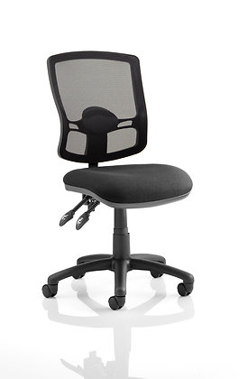 Eclipse Plus II Lever Task Operator Chair Mesh Back Deluxe With Black Seat