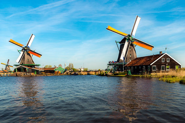 traditional-dutch-windmills-located-by-r