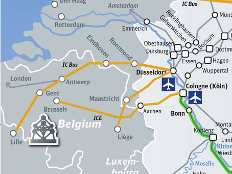 TRAVEL TO/FROM GERMANY- ANTWERP/ GENT BY IC BUS