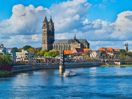 Magdeburg ( แม็กดิเบิร์ก ) เมืองหลวงสำคัญประจำแคว้น Saxony - Anhalt