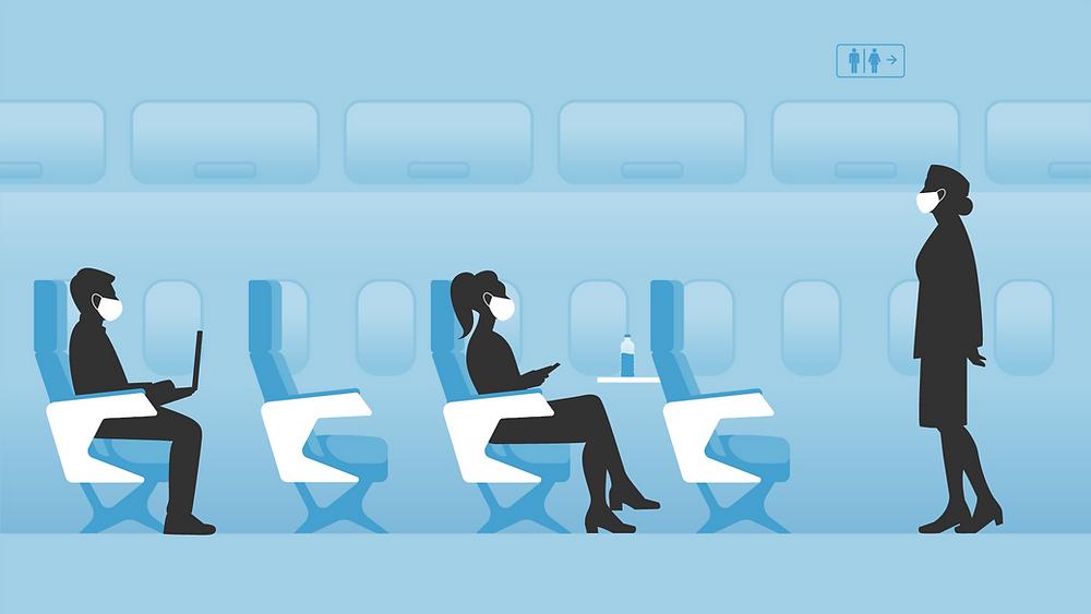 ระหว่างโดยสารบนเครื่องบิน
