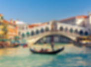 Gondola near Rialto Bridge in Venice, It