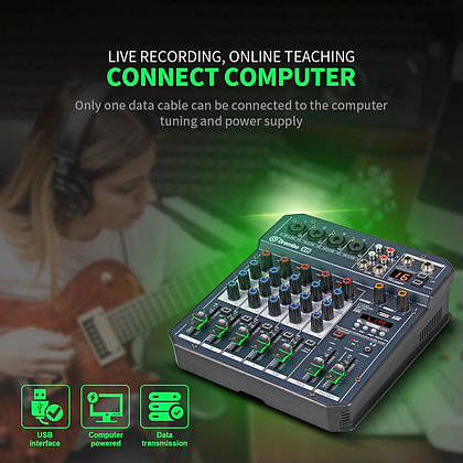 Drembo professional 4/6 channel digital audio mixer console
