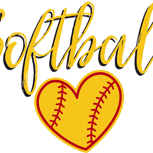 Softball Mom (Heart Ball)