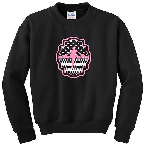Cheerleader Sweatshirt - Pink Glitter