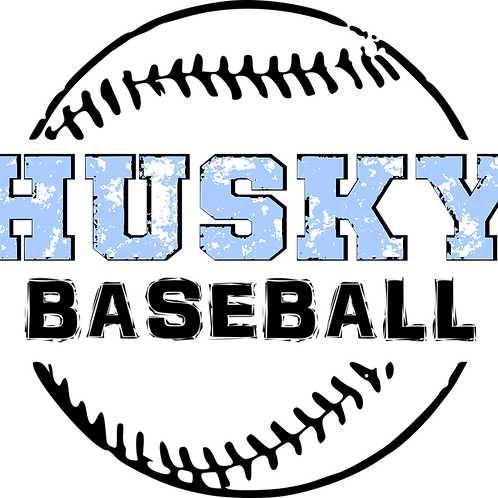 Husky Baseball Decal