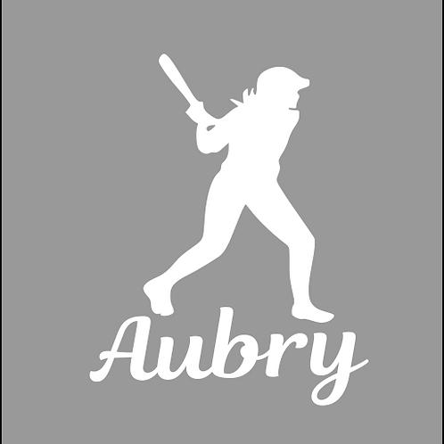 Softball Batter 2 - Personalized
