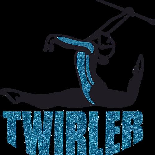 Baton Twirler -Blue Glitter