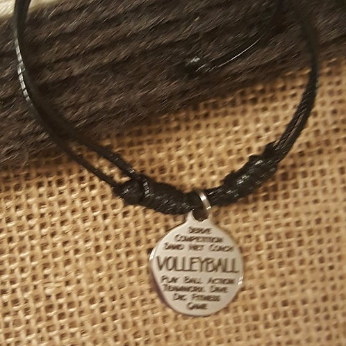 "Volleyball ""words"" Adjustable Bracelet"