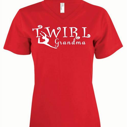 Twirl Grandma -  V Neck