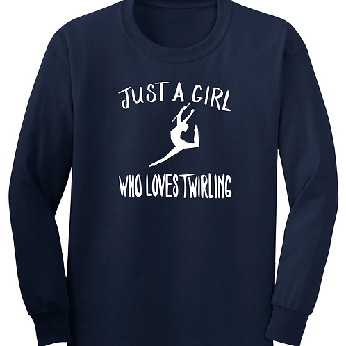 Just a Girl - Navy Long Sleeve