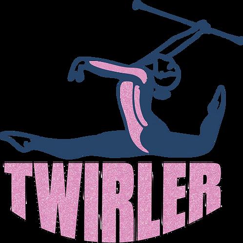 Baton Twirler -Pink Glitter