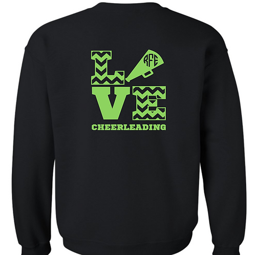 Personalized Cheer Sweatshirt - love