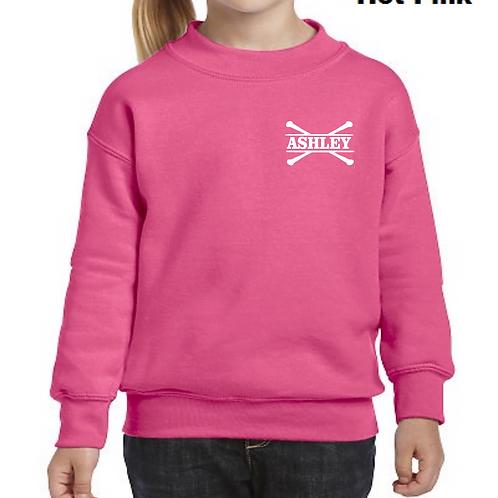 Personalized Youth Crew Sweatshirt