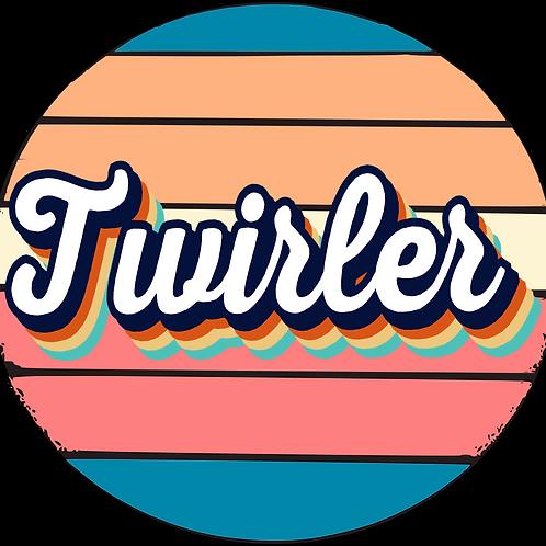 Retro Twirler Circle Decal