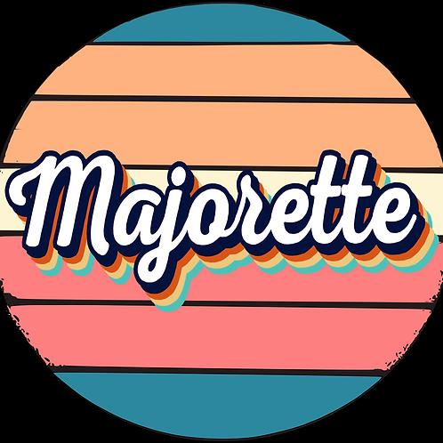 Retro Majorette Circle Decal