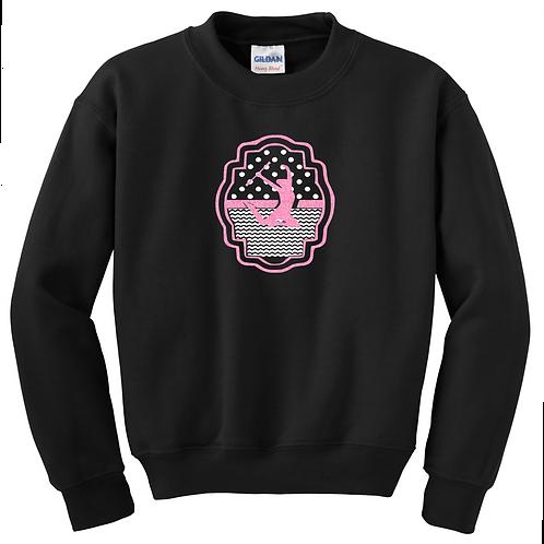 Chevron Dots Twirling Sweatshirt - Pink