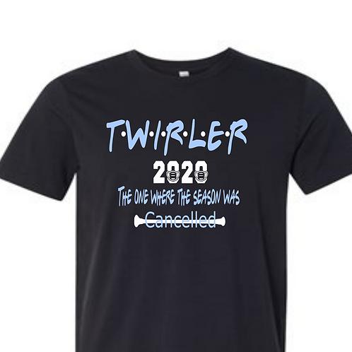 """2020 Twirler """"friends"""" -Black"""
