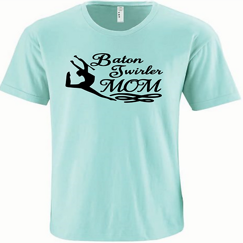Twirler Mom -Mint/black