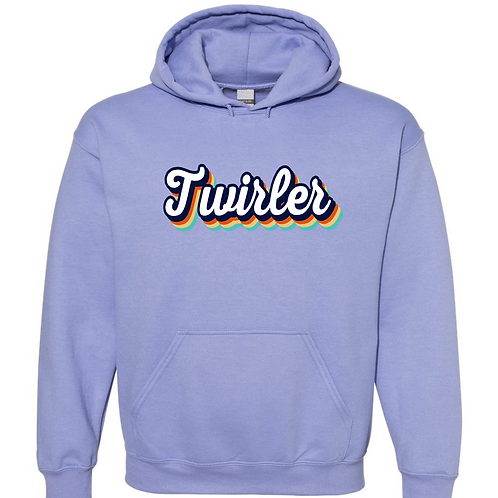 Retro Twirler-  Lavender Hooded