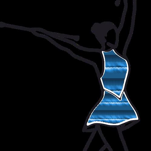 Baton Twirler - Blue Strips
