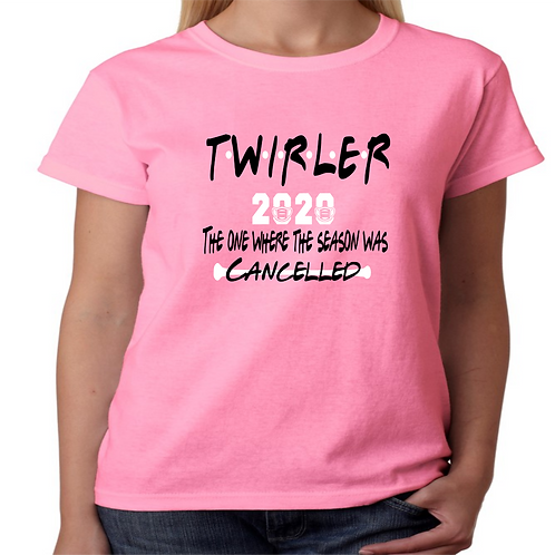 """2020 Twirler """"friends"""" - Pink"""