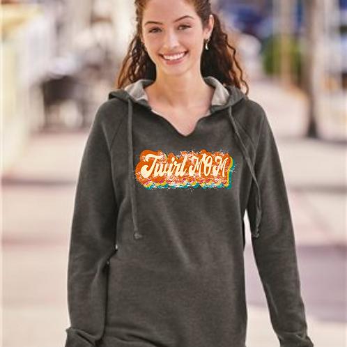 Vintage Twirl Mom - Raw Edge Sweatshirt