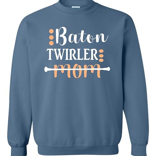 Fancy Baton Twirler Mom - Crew Sweatshirt